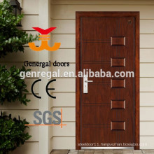 ISO Certified Main Wood Grain effect Metal Steel Door
