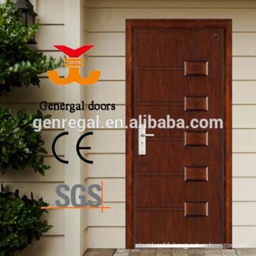 ISO Certified Main Wood Grain effect Metal Steel Door