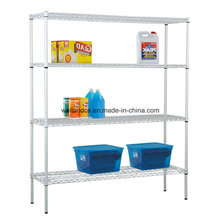 Wholesale 4 Layers Heavy Duty Warehouse Steel Wire Rack with Factory Price
