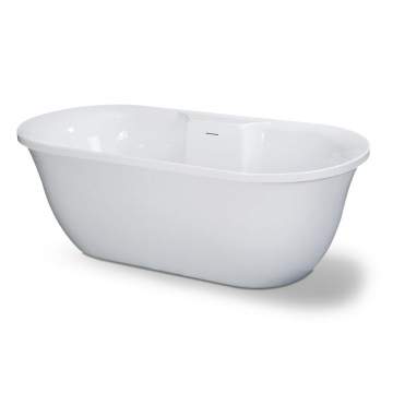 Romance Square Center Drain Bathtub with Deck for Faucet