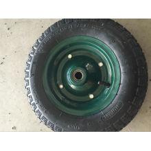 Pneus de brouette de roue en caoutchouc de camion de main de Brésil et tubes