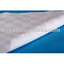 Tissu de lin 100% coton dobby checker