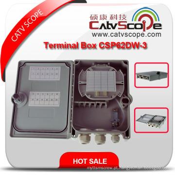 Caixa terminal da fibra óptica passiva de Csp62dw-3 FTTH / quadro de distribuição de fibra óptica / ODF