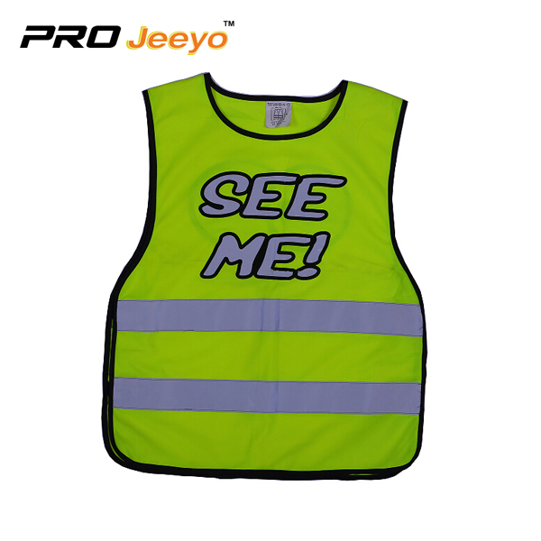 Reflective Children Big Eye Safety Warning Vest Svc Et002