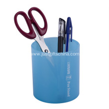 Promotional Cylinder Plastic Pen Holder W/ Logo