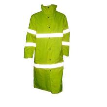 Long manteau réfléchissant de sécurité avec la grippe jaune