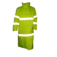 Reflective Long Safety Overcoat with Flu Yellow