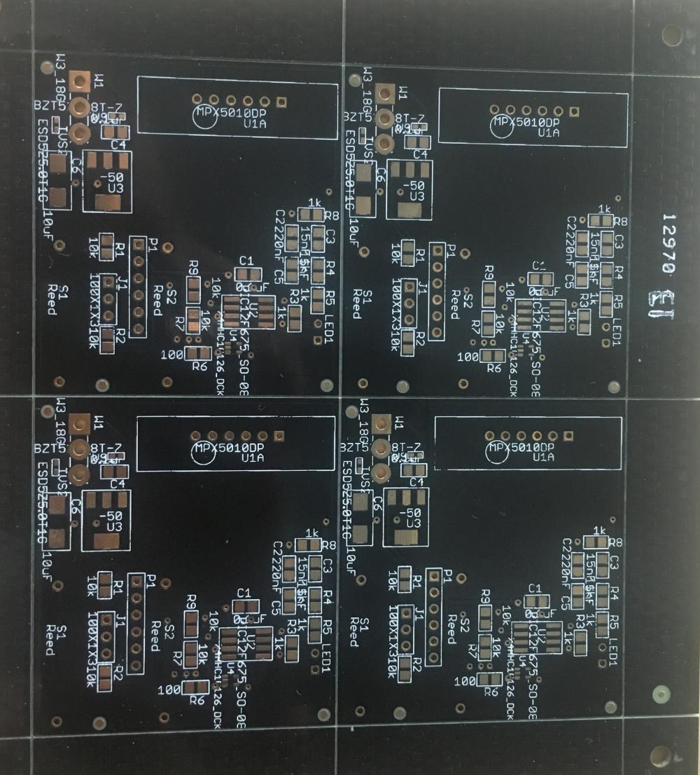 2 layer FR4 1.6mm Black Solder ENIG PCB