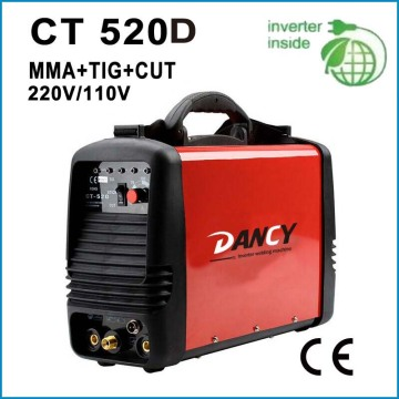3 in 1 Welder Plasma Cutter TIG MMA Cut Stick Arc 110V 220V CT520D with Pedal