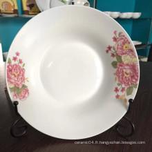 assiette en céramique linyi, assiette en céramique chinoise, assiette à soupe