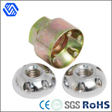 Four Holes Stainless Steel Anti-Theft Nuts with High Catbon Steel Banner