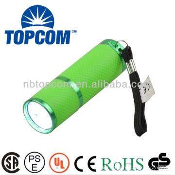 9 led flashlight with fluorescence set