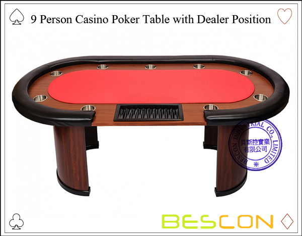 9 Person Casino Poker Table with Dealer Position-4