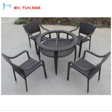 2016 Balck Rattan Round Table with 5cm Clear Galss (CF1236T)