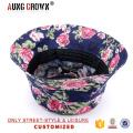 Venta al por mayor de los sombreros florales del cubo de la impresión de encargo de la alta calidad