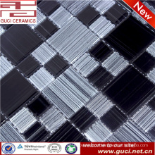 swimming pool tile mixed black and white glass mosaic tile