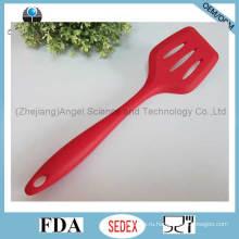 Антискользящая силиконовая посуда Силиконовая шлицевая шпатель для кухни Ss11