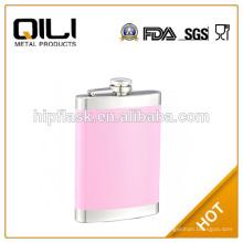 8 унций красивый розовый цвет краски из нержавеющей стали металла Фляга