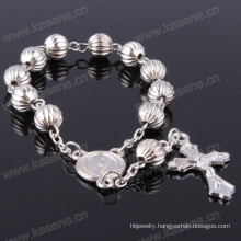 Fast Delivery Hn15D110 Catholic Gray Plastic Rosary Bracelet