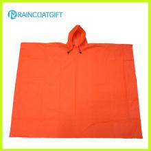 Poncho de lluvia EVA ligero de color naranja EVA Capa de lluvia Rvc-004