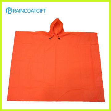 Lightweight EVA Rain Poncho Orange Color EVA Rain Cape Rvc-004