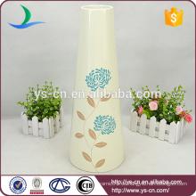 Elfenbein-hohe keramische Vase-Hochzeits-Dekoration