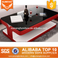 Factory direct wholesale Glass top Coffee table,wooden coffee table