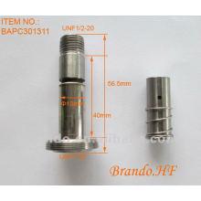 Conjunto de armadura de solenóide com núcleo fixo e móvel para válvula solenóide pneumática