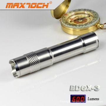 Maxtoch ED6X-3 600LM Cree T6 Mini LED Keychain Flashlight