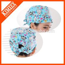 Bonnets chirurgicaux colorés à 100% coton