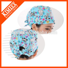 100% cotton hair colorful surgical caps