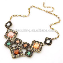 2014 new western style hot sale square short necklace