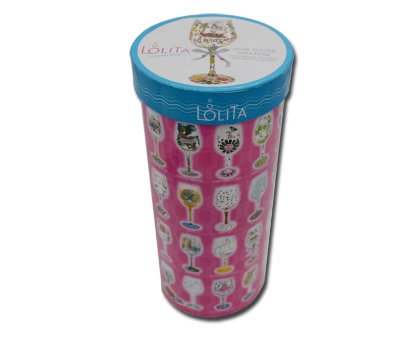 Custom printed cylinder shaped gift box