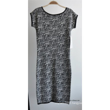 Ladies Viscose Nylon One-Piece Jacquard Sweater Dress