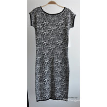 Ladies Viscose Nylon One-Piece Jacquard Sweater Dress