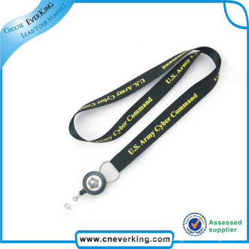 Plastic Retractable Pull Reel ID Name Card Badge Holder Lanyard
