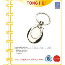 Silver blank oval shape metal keyrings w/any different requests