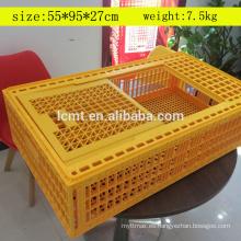 Jaula de transporte de aves de corral de plástico de fábrica en venta con el mejor precio