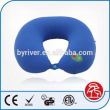 Cuello de forma clásica U masaje almohada vibratoria con botón