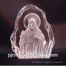 Iceberg de cristal grabado con láser 3D para religión - Jesús