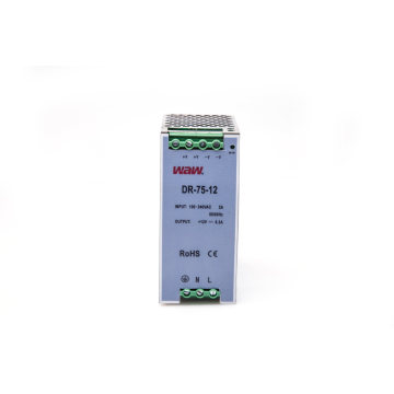 75W 12V 6A Switching Power Supply with Short Circuit Protection