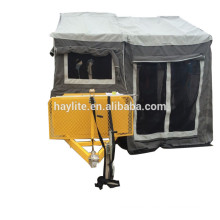 High quality galvanized camper trailer with canvas tent