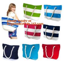 Women Shoulder Bag Rope Handle Canvas Shopping Tote Bag, Women Ethnic Canvas Rope Handle, Cotton Rope Handle Canvas Beach Bag To