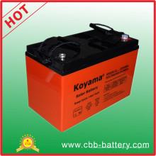 Bateria profunda certificada CE 12V 100ah do gel da bateria solar