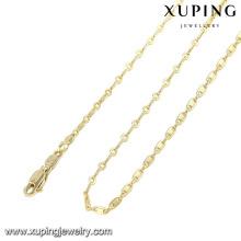 42941-xuping bas prix bijoux de mode 14 k or simples chaînes collier conceptions