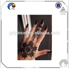 Henna design floral tatuagem falsa arte do corpo humano temporária tatuagem etiqueta