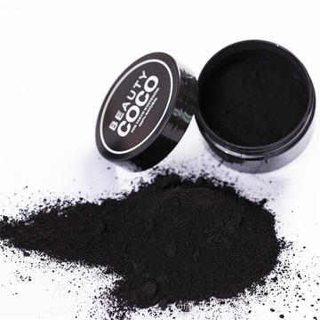 Polvo de carbón de cáscara de coco con bentonita en polvo para blanquear los dientes