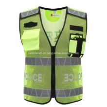 Jaqueta de segurança de aviso de poliéster