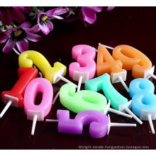 Wholesale cheap colorful numeral birthday Candles
