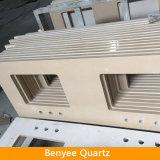 Newstar engineered polished beige quartz bathroom countertops